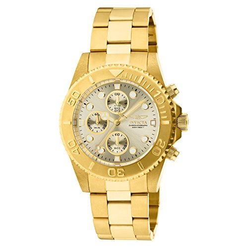 Invicta Men's 1774  Pro-Diver Collection 18k Gold Ion-Plated Stainless Steel Watch (Invicta Professional Diver Watch)