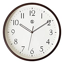 JustNile x A.Cerco 12 Analog Wall Clock, Silent Precise Sweep Movement, Natural Brown Maple Bent Wood Material, Modern Minimalistic Sleek Designed Bedroom Living Room Office Home Decor