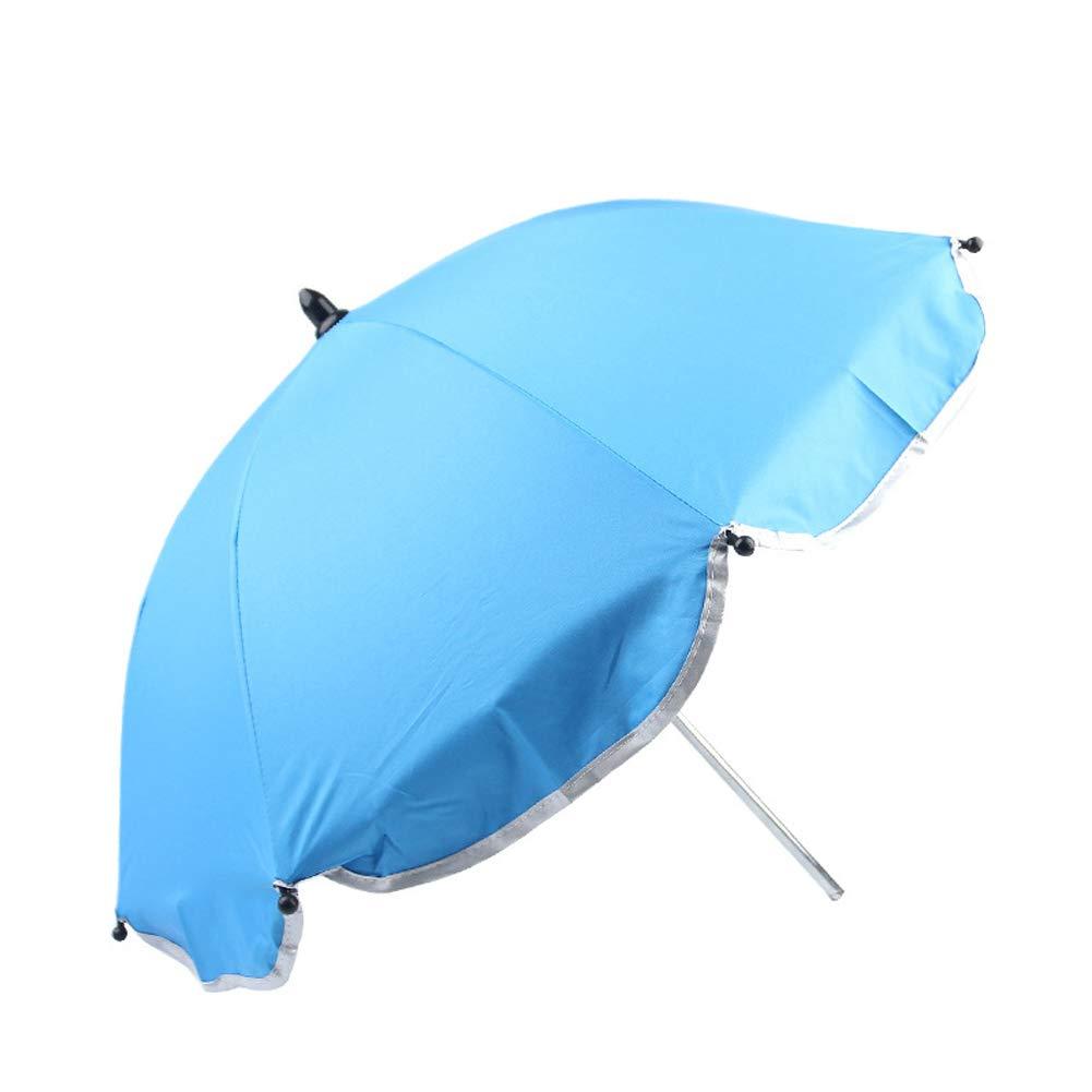 KSTN Parasol s/ólido Paraguas Universal para Cochecito de beb/é Azul Celeste Tama/ño Libre Accesorios de toldo Ajustable
