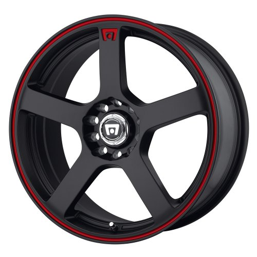 - Motegi Racing MR116 Matte Black Wheel With Red Racing Stripe (16x7