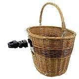 M-WAVE Panier de vélo en osier véritable