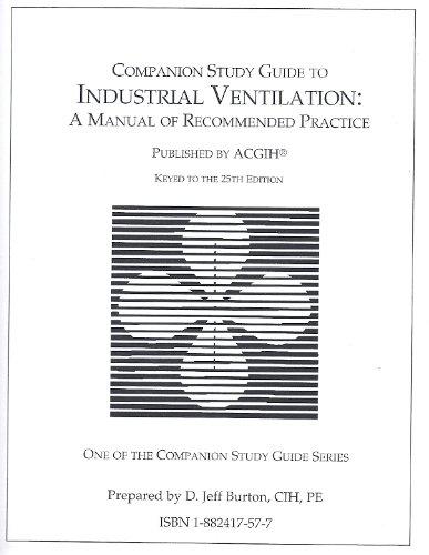 companion study guide to industrial ventilation a manual of rh amazon com Manual Ventilation Fan industrial ventilation manual 29th edition