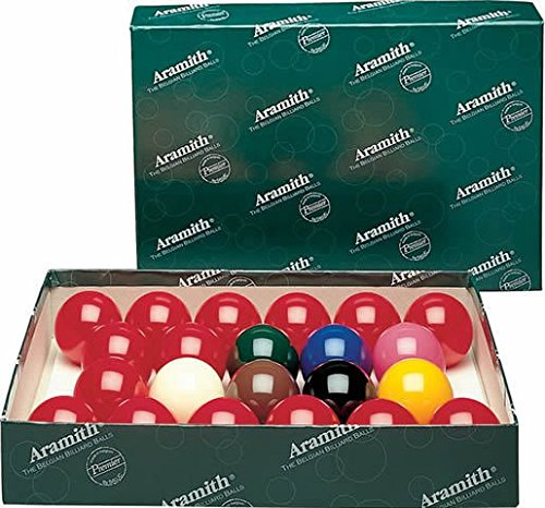 Belgian Aramith Premier Snooker Balls 2 1/4 inch - No Numbers