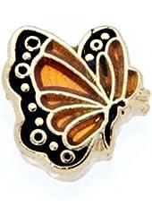 November Butterfly Enamel Birthmonth Charm for Floating Lockets