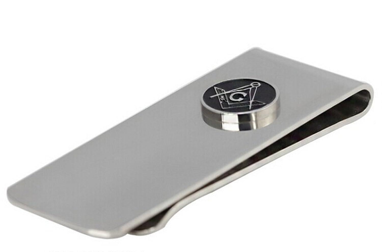 Gudeke Titanium Steel Masonic Wallet Money Clips Stainless Steel