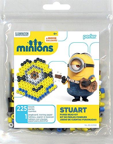 Perler Beads 80-52988 Minions Perler Stuart Activity Trial Size Kit, Yellow