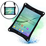Cooper Bounce Strap Shoulder Strap Rugged Case Compatible with Samsung Galaxy Tab S2 8.0 | Shock Proof Heavy Duty Cover with Stand, Hand Strap | Adults Kids Friendly | SM-T710 T715 T719N (Black)