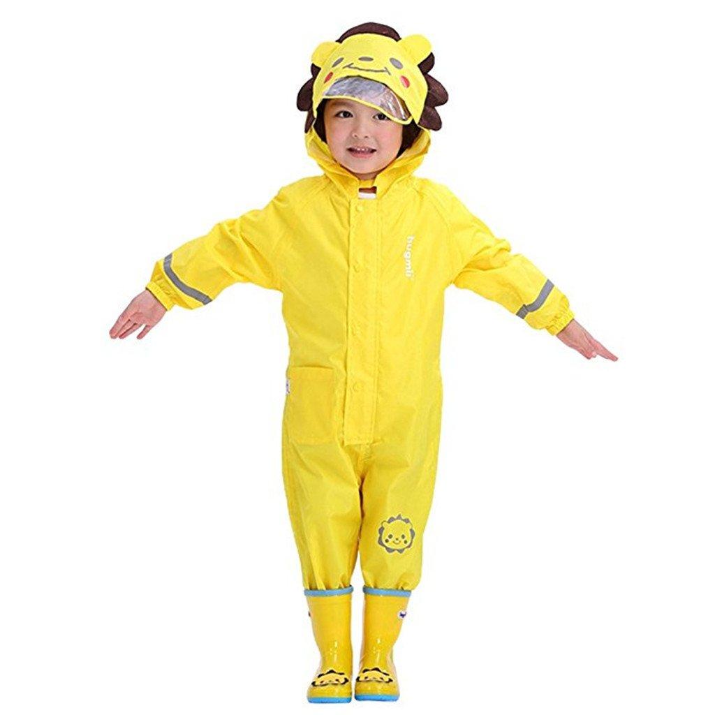 Gar/çons Filles Manteau Imperm/éable Enfant Combinaison Ponchos de Pluie avec Capuche Cape de Pluie Poncho Imperm/éable Poncho /à Capuche
