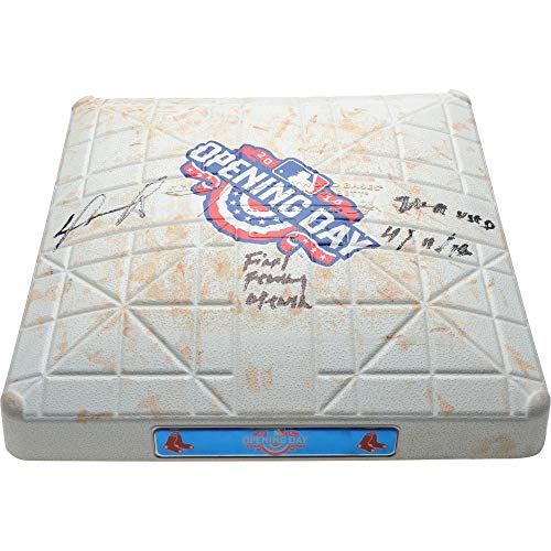 David Ortiz Boston Red Sox Autographed Game-Used 2nd Base vs. Baltimore Orioles on Opening Day April 11, 2016 with Multiple Inscriptions - Fanatics Authentic - Game Baltimore Orioles Final