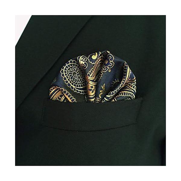 Shlax&Wing Multi-colored Paisley Dark Blue Neckties Men Tie Wedding Fashion