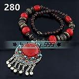 280# Red Fashion Women Jewelry Pendant Crystal Choker Chunky Statement Chain Bib Necklace