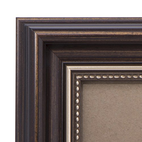 8x10 Picture Frame Antique Brown - Mount Desktop Display, Frames by EcoHome - Art Glass Stained Tray