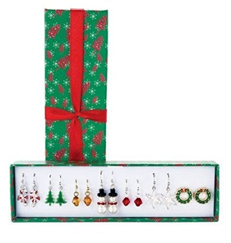 Avon Christmas Holiday Earrings Gift Set - 7 pairs in gift box