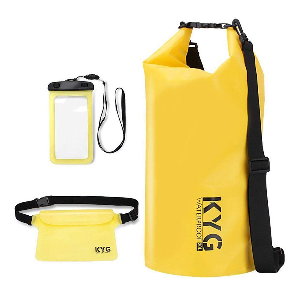 Premium bolsa estanca 20L impermeable seca PVC- Set de bolsa waterproof con funda táctil de