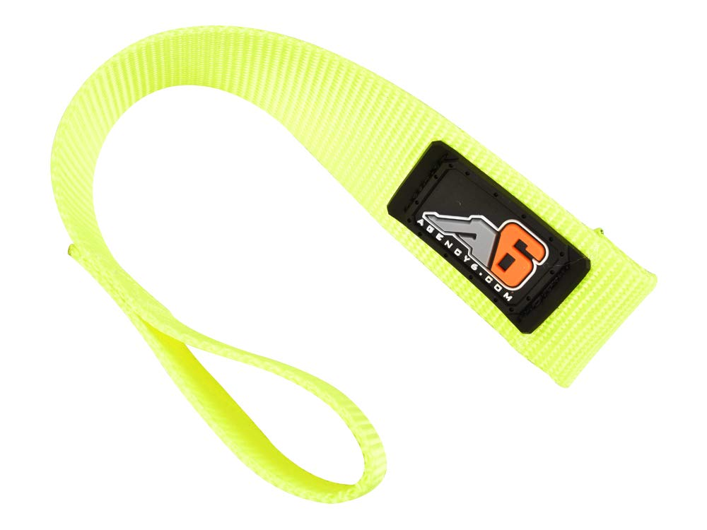 1.5 INCH Wide Heavy Duty Safety Yellow Agency 6 Winch Hook Pull Strap Made in The U.S.A.