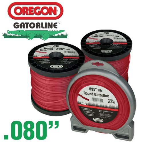 - Oregon 23-180 Gatorline 3-Pound Spool of .08-Inch Professional Round String Trimmer Line, Red