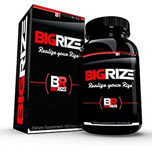 Bigrize Top Rated Male Enhancement Pills, 60 Capsules - Increase Size, Energy, Male Enhancement, Stamina, Vitality, Mood, Male Enlargement, Libido Enhancement Pills - 51StFAyfUiL - Enhancement Pills