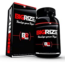 Bigrize Top Rated Testosterone Booster, 60 Capsules - Increase Energy, Male Health Enhancement, Stamina, Vitality, Mood, More for Male Health - 1 Month