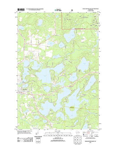 Topographic Map Poster - Eagle River East, WI TNM GEOPDF for sale  Delivered anywhere in USA