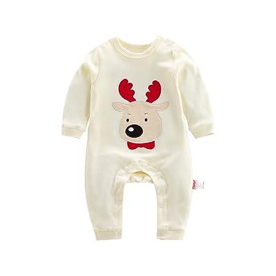 Bébé Grenouillères Combinaisons,Feicuan Newborn Noël Xams Outfits Bodys Manches longues coton Pajamas 1-12 mois