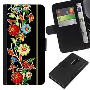 All Phone Most Case / Oferta Especial Cáscara Funda de cuero Monedero Cubierta de proteccion Caso / Wallet Case for LG G2 D800 // Vintage Retro Heritage Floral Pattern