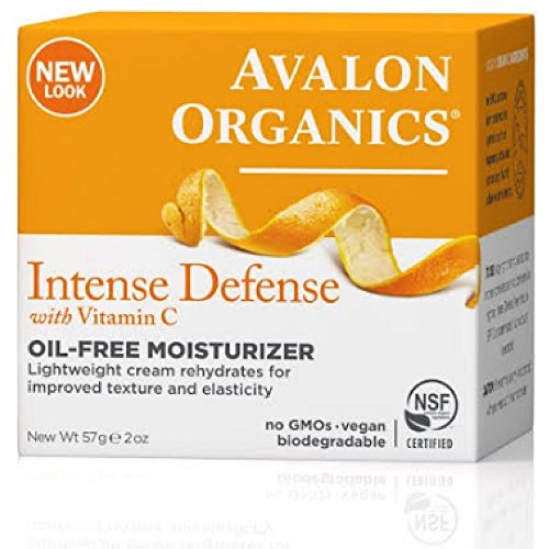 Avalon Organics Intense Defense with Vitamin C, Oil-Free Moisturizer 2 oz Pack of 12