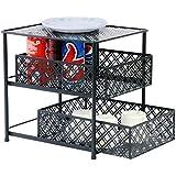 Callas Premium 2-Tier Sliding Cabinet Basket Kitchen Organizer, CA2639, Black