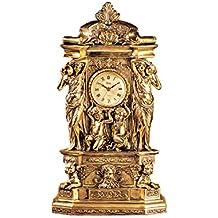 Design Toscano Chateau Chambord Clock in Antique Faux Gold