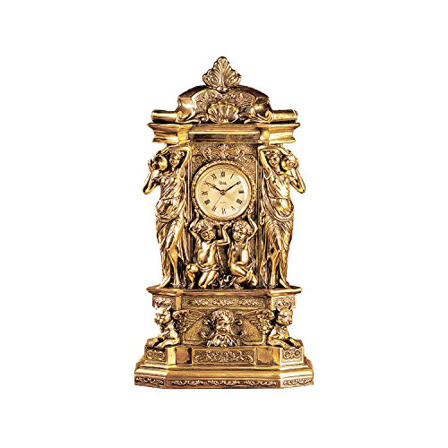 au Chambord Clock in Antique Faux Gold (Design Wall Mantels)