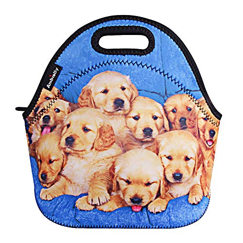 Ambielly Neoprene Lunch Bag/Lunch Box/Lunch Tote/Picnic Bags Insulated Cooler Travel Organizer (10 Dogs)