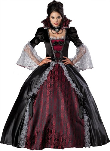 InCharacter Costumes Women's Vampiress Of Versailles Costume, Black/Burgundy, Large