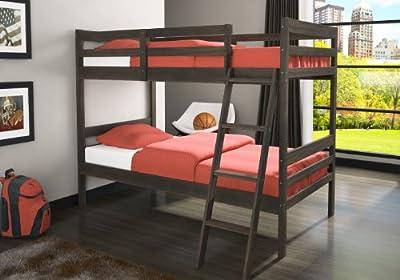 Twin over Twin Rustic Bunk Bed in Rustic Walnut