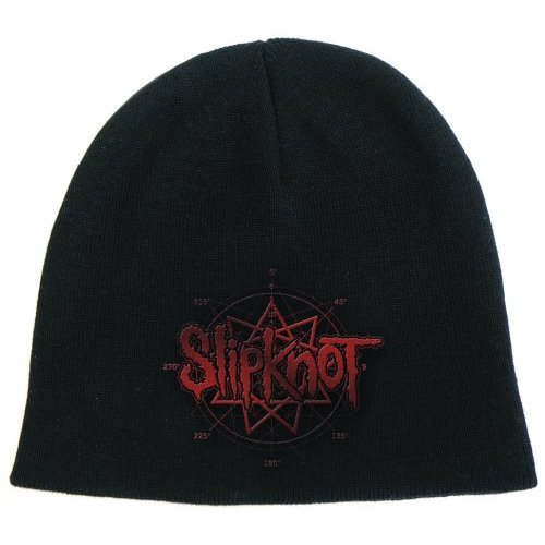 Slipknot Band Logo Black Red Beanie Hat Official Mens Womens Cap Album Gift