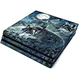 Bark at The Moon Full Faceplates Skin Decal Wrap with 2 Piece Lightbar Decals for Playstation 4 Pro
