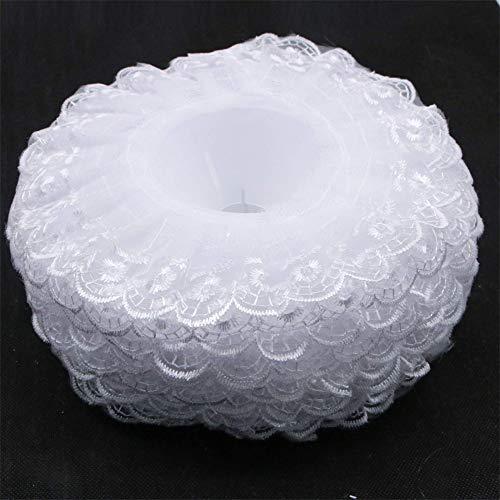 Seek4comfortable 6Pcs Lace Bouquet Collar, Lace Collar DIY Bouquet Holder Wedding Bridal Bouquet Collar White Lace Decoration Bouquet Holder ()