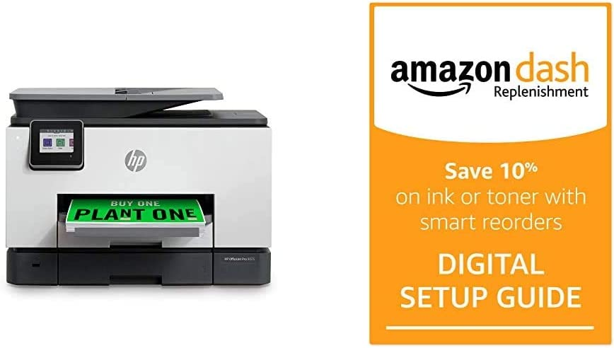 HP OfficeJet Pro 9025 All-in-One Wireless Printer Single-Pass (Automatic) Document Feeder and Two Paper Trays Smart Home Office Productivity and Amazon Dash Replenishment Digital Setup Guide