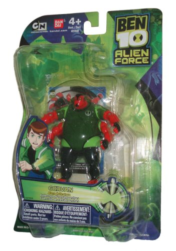 Ben 10 Alien Force Collection Series 4 Inch Tall Action Figure - Alien Collection GORVAN with Collectible (Ben 10 Alien Collection)