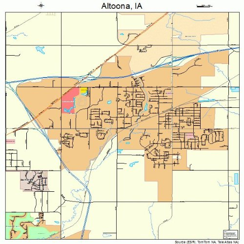 Amazon Com Large Street Road Map Of Altoona Iowa Ia Printed