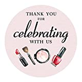 MAGJUCHE Girls Spa Makeup Thank You Stickers, Spa Birthday or Baby Shower Party Favor Sticker Labels, Party Supplies, 2 inch Round, 40-Pack