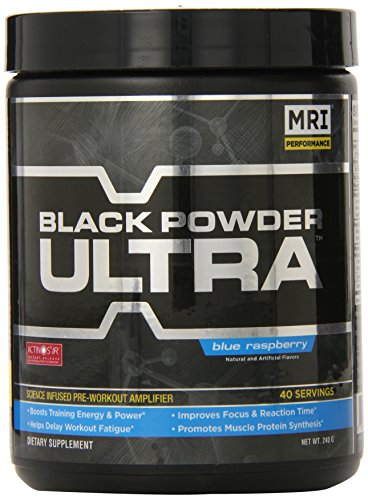 IRM Black Powder Ultra, Blue Raspberry, 240 Gram