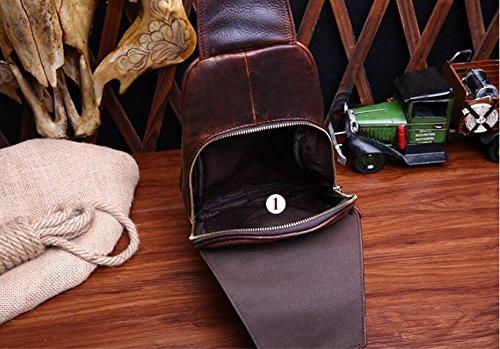 DJB/Brust Taschen die man bag Retro Herren Leder