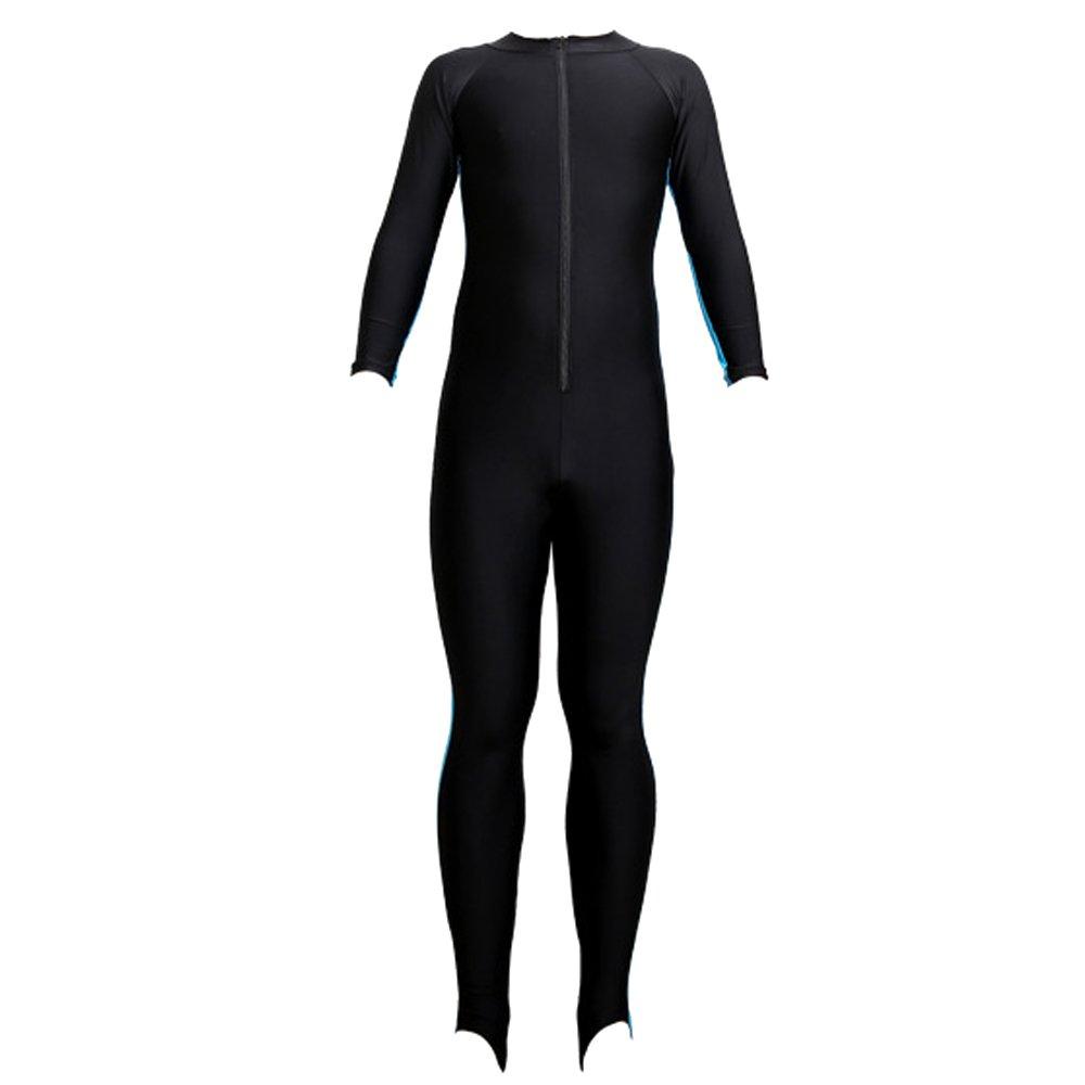 KINDOYO Women Men Full Length Siamese Diving Snorkeling Suit UV Protection Swimming Watersports Wetsuit, Blue-Women/2XL