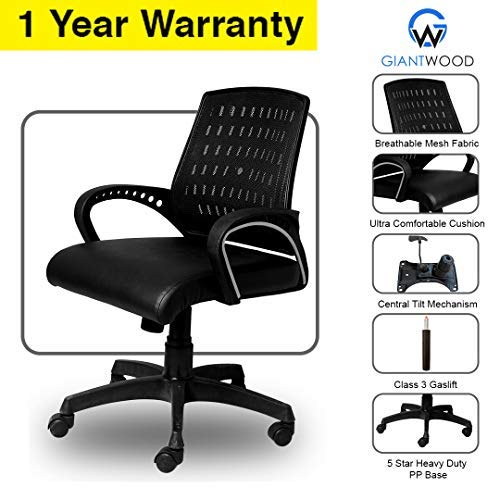 Giantwood Mark High Back Director Boss Executive Revolving Office Chair Computer Laptop Study College Office Chairs Chair For High Back Support With Rolling Moving Wheels Revolving Spine Lumbar And Ortho Backrest Support