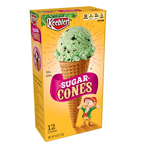 Keebler Ice Cream Cones, Sugar Cones, 4 oz (12 Count) ()