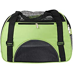 HLCWTOY Hollow-Out Portable Breathable Waterproof Pet Handbag Green M