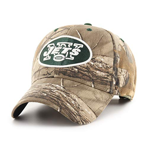 Headwear Men Apparel (OTS NFL New York Jets Male Hickory All-Star Adjustable Hat, Realtree, One Size)