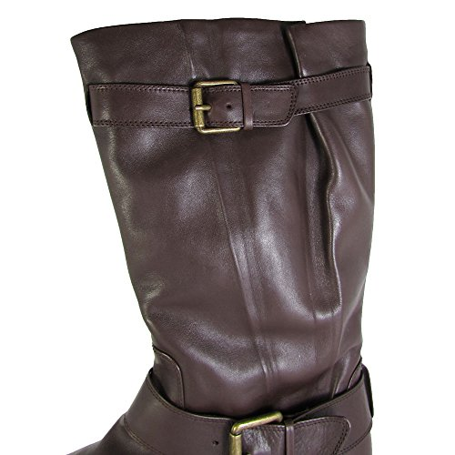 Gentle Souls Womens Buckled Up Leather Engineer Boot Shoes Brown p9kO3CJ