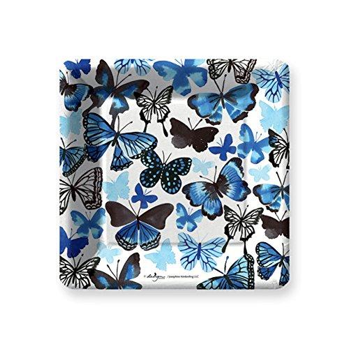 Indigo Butterfly Dessert Paper Plates