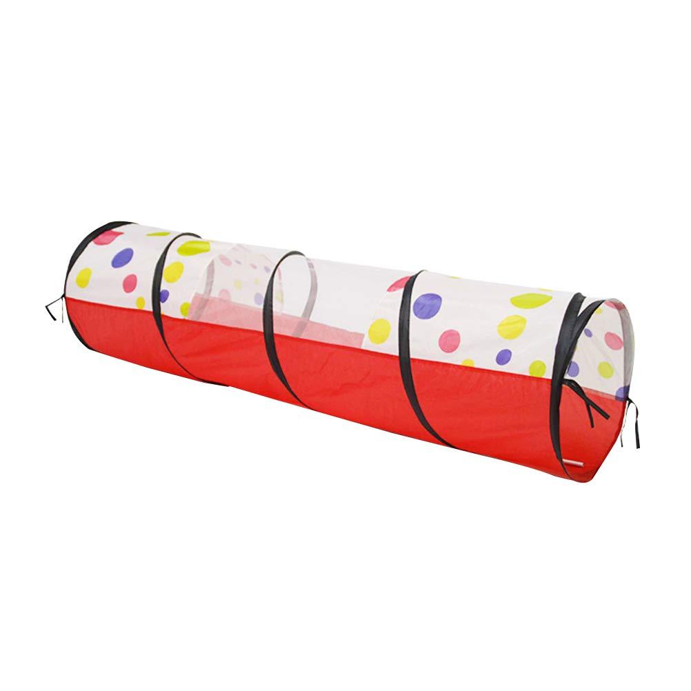 Toyvian 1 unid Kids Play Tunnel Play Tents Crawling Tunnel Tube Game Juguete Regalo de cumpleaños Área de Juego Decoración para niños Niños