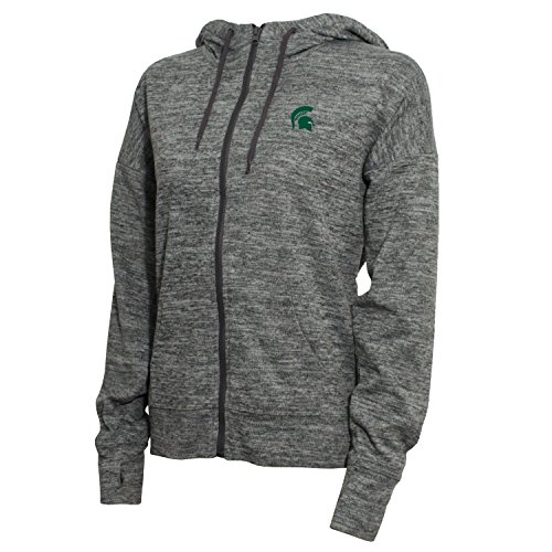 NCAA Michigan State Spartans Women's Zip Front Drawstring Hoodie, X-Large, Marled ()